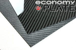 "EconomyPlate™ Solid Carbon Fiber Sheet ~ 2mm x  6"" x  6"""