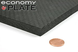 "EconomyPlate™ Solid Carbon Fiber Sheet ~ 1/2"" x 24"" x 24"""
