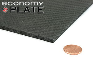 "EconomyPlate™ Solid Carbon Fiber Sheet ~ 1/4"" x  6"" x  6"""