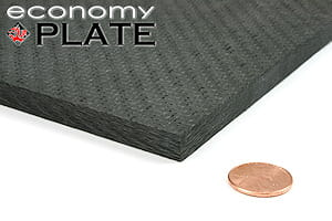 "EconomyPlate™ Solid Carbon Fiber Sheet ~ 3/8"" x 12"" x 12"""